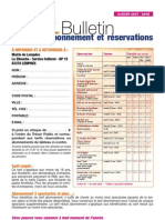 formulaire réservation Lempdes