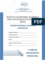 Segunda Prueba de Avance de Matemática - Segundo Año de Bachilllerato - PRAEM 2016.pdf