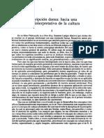 Geertz. Descripción Densa. 19-40