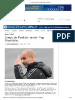 Juego de Posición Under Pep Guardiola