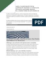 El Manejo Adecuado y La Optimización de Las Operaciones de Perforación Requieren Un Sistema de Gestión de La Información Que Pueda Capturar