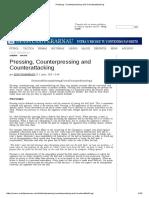 Pressing, Counterpressing and Counterattacking