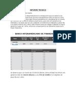 Informe Tecnico de bancos lima
