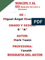 EL PRINCIPE Y EL MENDIGO Biografía Del Autor y Resumen