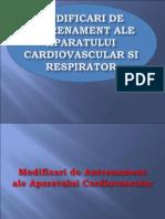 Modificari de Antrenament Ale Aparatului Cardiovascular Si Respirator