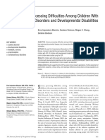 Proprioceptive Processing Difficulties Among Children With Autism Spectrum Disorders and Developmental Disabilities