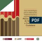 Guía Metodológica Para La Elaboración, Implementación y Seguimiento de Los PISCC