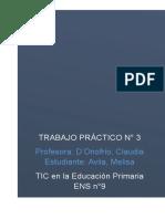 Resumen Anexo Curricular de Educación Digital