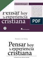 Fernando Jose Ortega Pensar Hoy La Experiencia