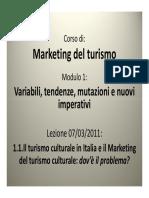 1 1 Marketing Turistico Culturale Introduzione Evoluzione e Nuove Sfide Droli