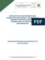 Instructivo Identificacion Correcta Del Paciente