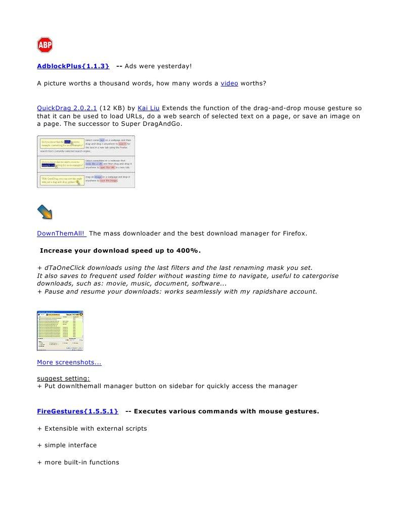 Firefox Addon Extension) | Software | Hypertext