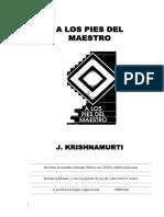 A Los Pies Del Maestro, Krishnamurti