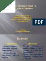 El Dato, La Información y El Documento