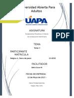 Fundamentos Filosoficos e Historia de La Educacion Dominicana - Tarea II