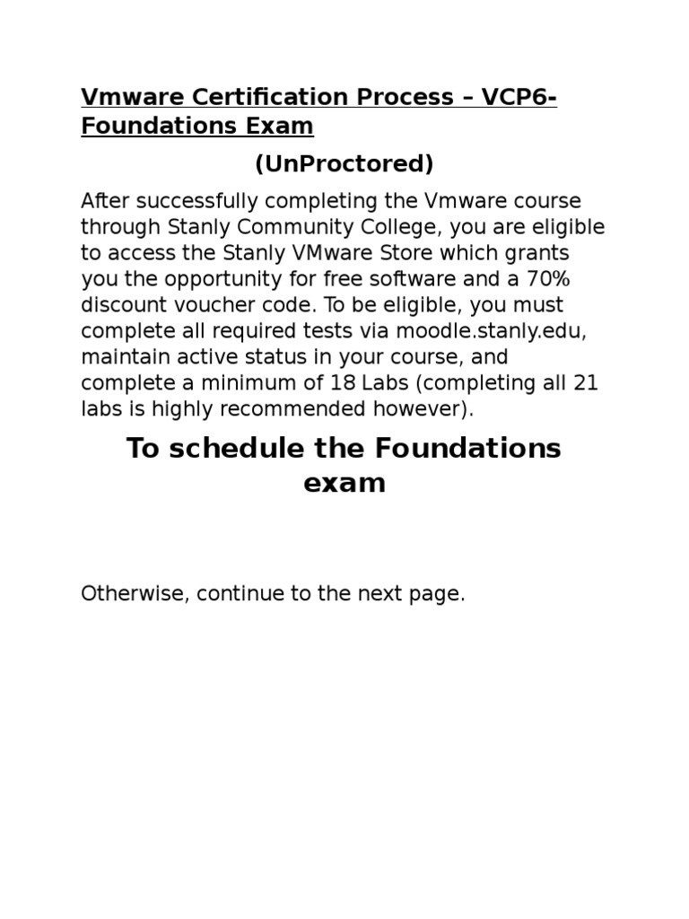 Stanlyccvmware Certification Process Vcp6 Foundations Exam Updated