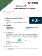 Laboratorio #1 Errores_Densidad (Física I)