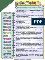 Irregular Verbs Simple Past Tense 1