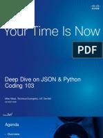 Deep Dive on JSON & Python Coding 103DEVNET-2006
