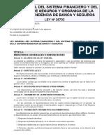 LEY_26702_1996 Ley General Del Sistema Financiero y Del Sist de Seguros y Organica de La SBS