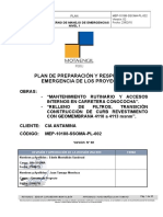 Plan Interno Manejo Emergencias Mep Presa Relaves Antamina 2015