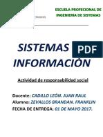 Trabajo de Responsabilidad Social 01 -Sistemas de Informacion