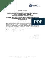 Aviso Publicacion de Resultados SENER 2015-16-4 Periodo