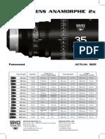 Brochure Scorpio Lens Anamorphic 2 x