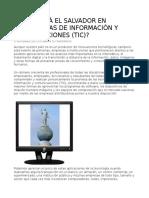 ¿CÓMO ESTÁ EL SALVADOR EN TECNOLOGÍAS DE INFORMACIÓN Y COMUNICACIONES (TIC)?