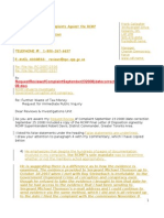 Request Immediate Public Inquiry September 262008