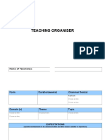 e Teaching Organiser