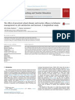 Malinen & Savolainen the Effecto of Perceived School Climate and Teacher Efficacy in Bejavior Managment Etc