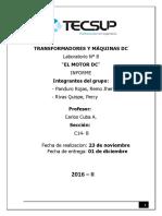Lab 8 Transformadores y Máquinas DC- Remo Panduro, Percy Riva