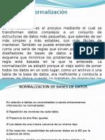 Normalizacion de Bases de Datos 2014