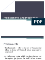 Predicaments and Predicable