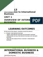 DPP2013 Unit 1 Overview of International Business