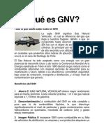 Qué es GNV