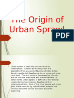 The Origin of Urban Sprawl