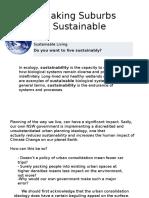 Making Suburbs Sustainable