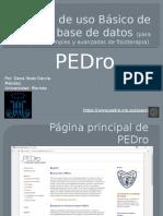 Guía de Uso Básico de Una Base De datos (PEDro)