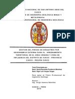 Gestion Del Riesgo de Desastres Por Geodinamica Externa Para El Ordenamiento Territorial en El Area Urbana Cusco