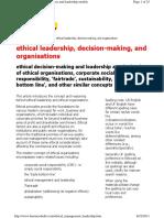 Ethical Management Leadership