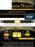 Customer Needs Kano Garvin & QFD