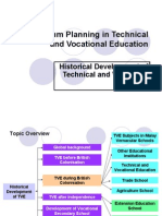 Curriculum Planning in Technical and Vocational Education