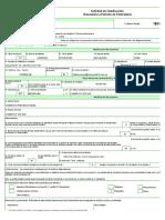 Formulario 1881 Solicitud Clasificacion Arancelaria a Peticion de Particulares