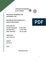 Informe 1 Estacion Meteorologica - Mediciones Hidrologicas
