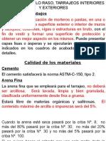 CLASE 01 PROCEDIMIENTO CONSTRUCTIVO DEL CIELO RASO , TARRAJEOS DE INTERIORES, EXTERIORES, COLOCACION DE ENCHAPES, ZOCALOS Y CONTRAZOCALOS