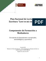 """Plan Nacional de Lectura y Escritura """"Leer Es Mi Cuento""""-2014"""