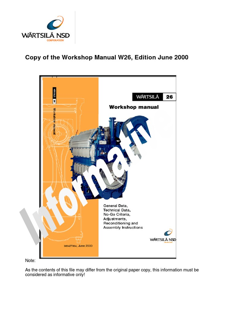 83657661-WorkshopmanualW26 pdf | Piston | Gallon