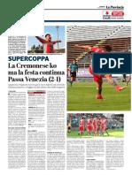 La Provincia Di Cremona 14-05-2017 - SuperCoppa - Pag.1